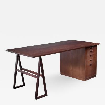 Teak veneered desk Sweden