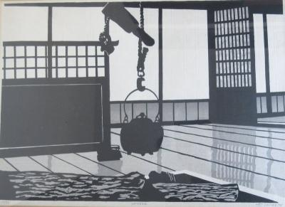 Ted Colyer Japanese Woodblock Print Interior by Ted Colyer