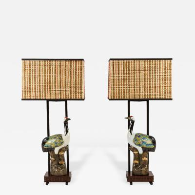 Ted Graber Pair of Armature Lamps by Ted Graber
