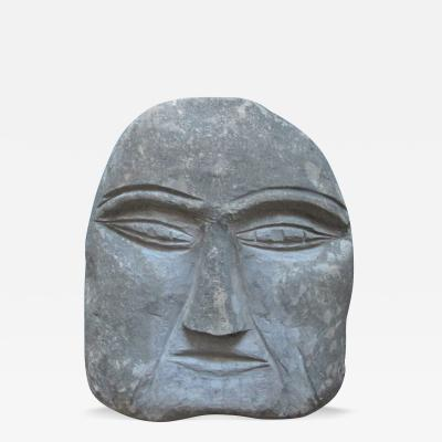 Ted Ludwiczak Stone Head Carved by Ted Ludwiczak