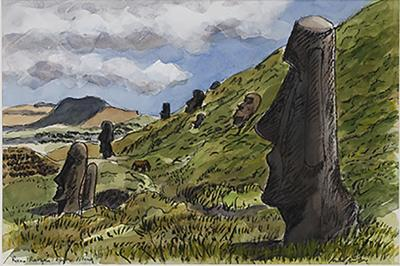 Teddy Millington Drake Watercolours of Easter Island by Teddy Millington Drake