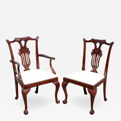 Ten American Centennial Mahogany Dining Chairs