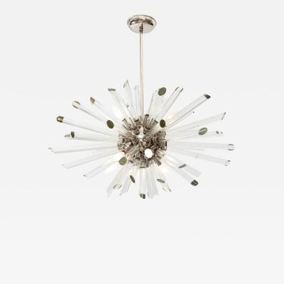 Ten Light Sputnik Chandelier with Glass Rods