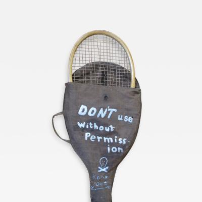 Tennis Raquet Cover with Danger Warning