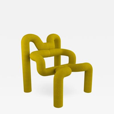 Terje Ekstrom Iconic Yellow Armchair by Terje Ekstrom Norway 1980s