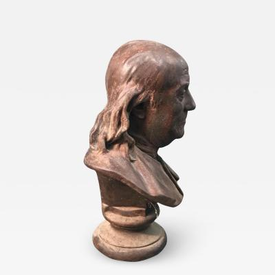 Terracotta Bust of Benjamin Franklin After Houdon 19th Century