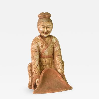 Terracotta Figure A Farmer Chinese Han Style
