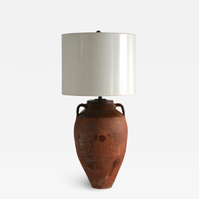 Terracotta Jar Form Table Lamp