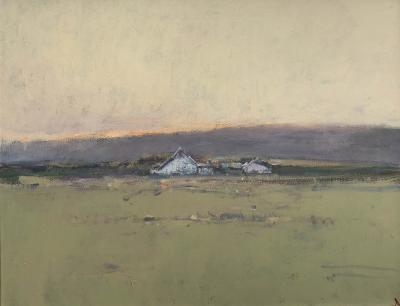 Terry DeLapp White Barn and Early Sky