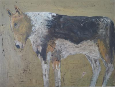 Terry Turrell Tricolor Dog painting by Terry Turrell