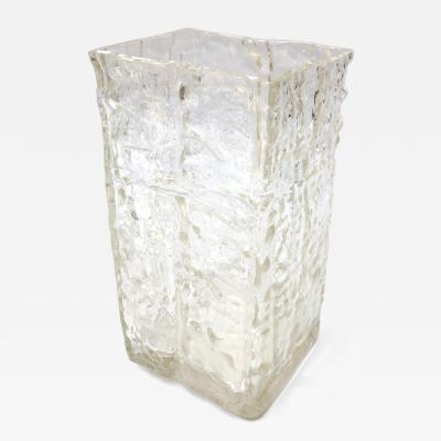Textured 1960s Girandi Glass Vase