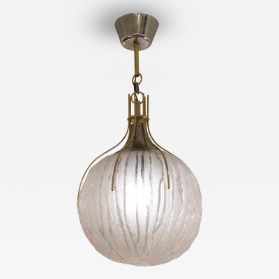 Textured Glass Brotto Pendant Italy 1960s