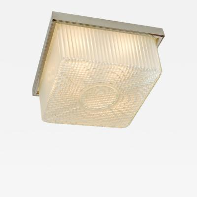 Textured Glass Ceiling light France 1950s