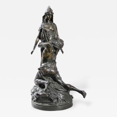 Th odore Louis Auguste Rivi re French Art Nouveau Bronze Sculpture