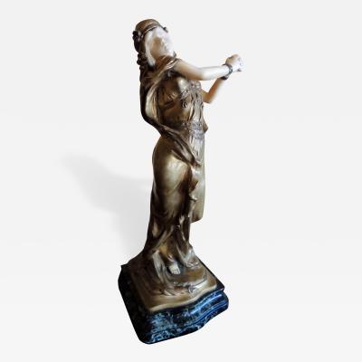 Th ophile Fran ois Somme Art Nouveau Bronze Sculpture of Heroine by Th ophile Fran ois Somme