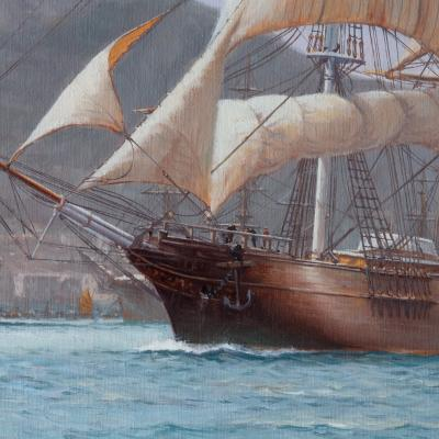 The Challenger Arrives off Kowloon Hong Kong by Rodney Charman