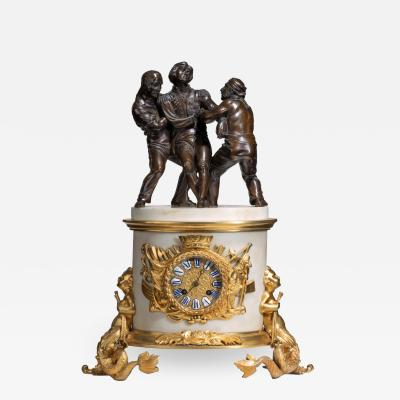 The Death of Nelson commemorative striking mantelpiece clock