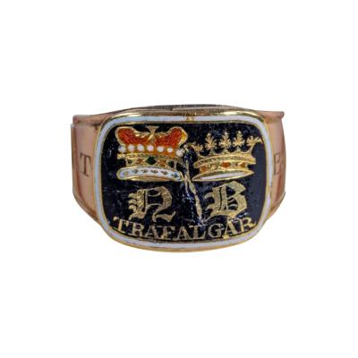 The Enamel Gold Nelson Memorial Ring Made For His Aunt Mrs Thomasine Goulty