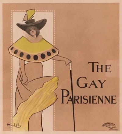 The Gay Parisienne 1897 Litho by Hyland Ellis Paris