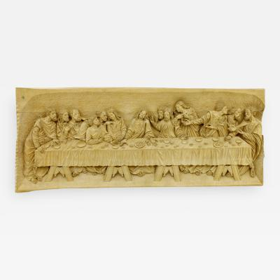 The Last Supper Wood Carving Relief Masterpiece by Emrich Mussner 1976