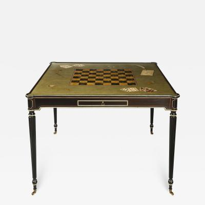 The Louis XVI Style Trompe Loeil Painted Card Table