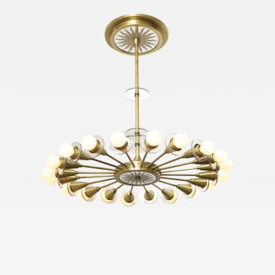 The Odom 20 Light Mirrored Sunburst Fixture