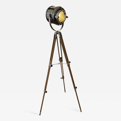 Theater Spotlight manufactured by Furse on Vintage Tripod UK 1950s