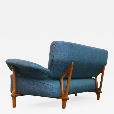 Theo Ruth Rare Three Seat Sofa Model 109 by Theo Ruth for Artifort Dutch Design 1950