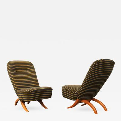 Theo Ruth Set of 2 Congo Chairs by Theo Ruth for Artifort Dutch design ca 1950