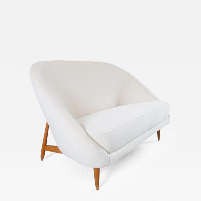 Theo Ruth Theo Ruth Artifort Sofa Model 115 in White Velvet the Netherlands 1959