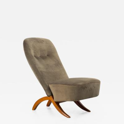 Theo Ruth Theo Ruth Congo chair in green velvet Artifort Dutch 1957