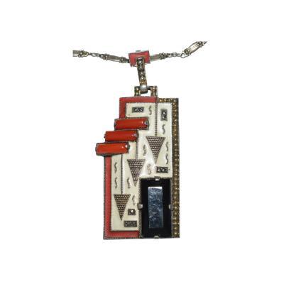 Theodor Fahrner Pendant Necklace Art Deco