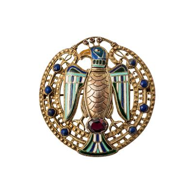 Theodor Fahrner Theodor Fahrner Jugendstil Pendant ca 1915 Enamel and Semi Precious Stones