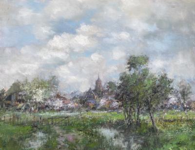 Theodore Dorus van Oorschot Springtime in Schijndel