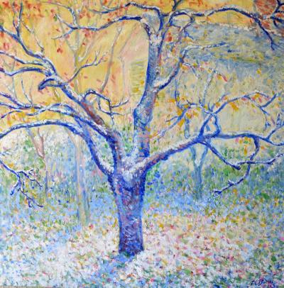 Theodore Earl Butler Blue Tree in Winter Giverny