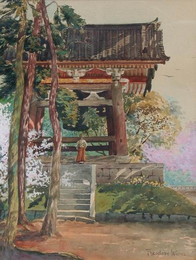 Theodore Wores Temple Bell Japan
