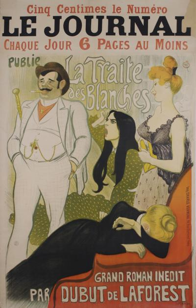 Theophile Alexandre Steinlen French Turn of the Century Poster by Theophile Steinlen 1890s