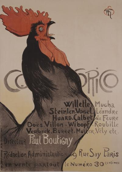 Theophile Alexandre Steinlen French Turn of the Century Poster by Theophile Steinlen 1899