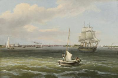 Thomas Birch View of Philadelphia Harbor