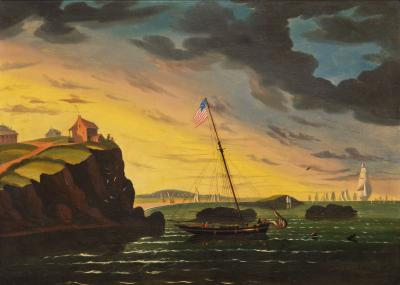 Thomas Chambers Dramatic Seascape Nahant Massachusetts