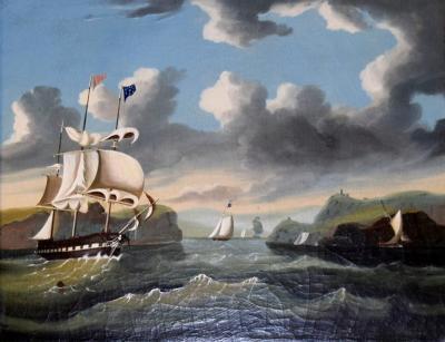 Thomas Chambers THOMAS CHAMBERS 1808 1869 VIEW OF THE HUDSON