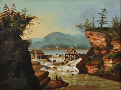 Thomas Chambers The Sawmill at Rockwell Falls