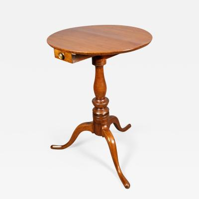 Thomas Chippendale Chippendale Walnut and Mahogany Tripod Table
