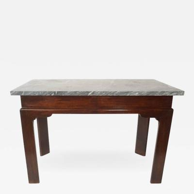 Thomas Chippendale English Georgian Marble Top Mahogany Slab or Side Table
