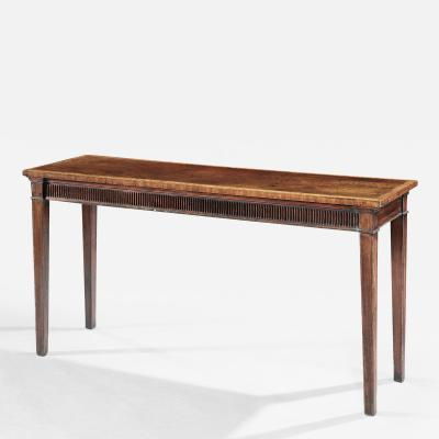 Thomas Chippendale English Rare Dimension Chippendale Period Mahogany Console Server Sidetable