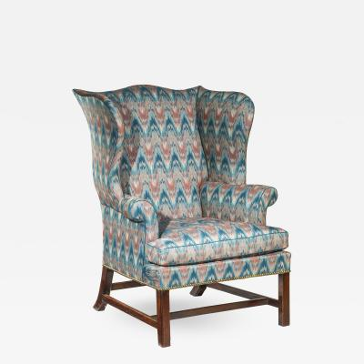 Thomas Chippendale Fine George III Chippendale Mahogany Wing Armchair