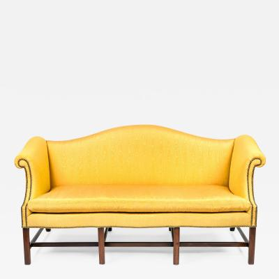 Thomas Chippendale George III style camel back sofa