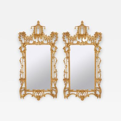 Thomas Chippendale Pair of English Rococo style mirrors