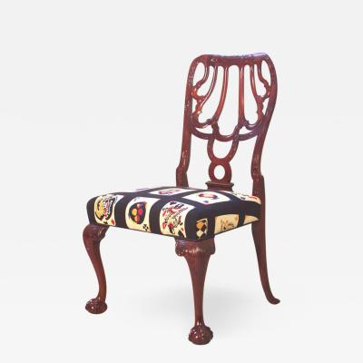 Thomas Chippendale Single Georgian Style Side Chair in Cuban Mahogany