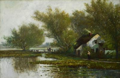 Thomas Corwin Lindsay Cottage by the Lake